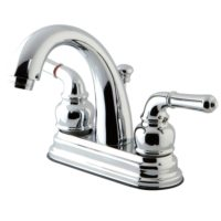 kingston brass ks8611nml kingston brass ks8611nml 4inch centerset lavatory faucet with popup