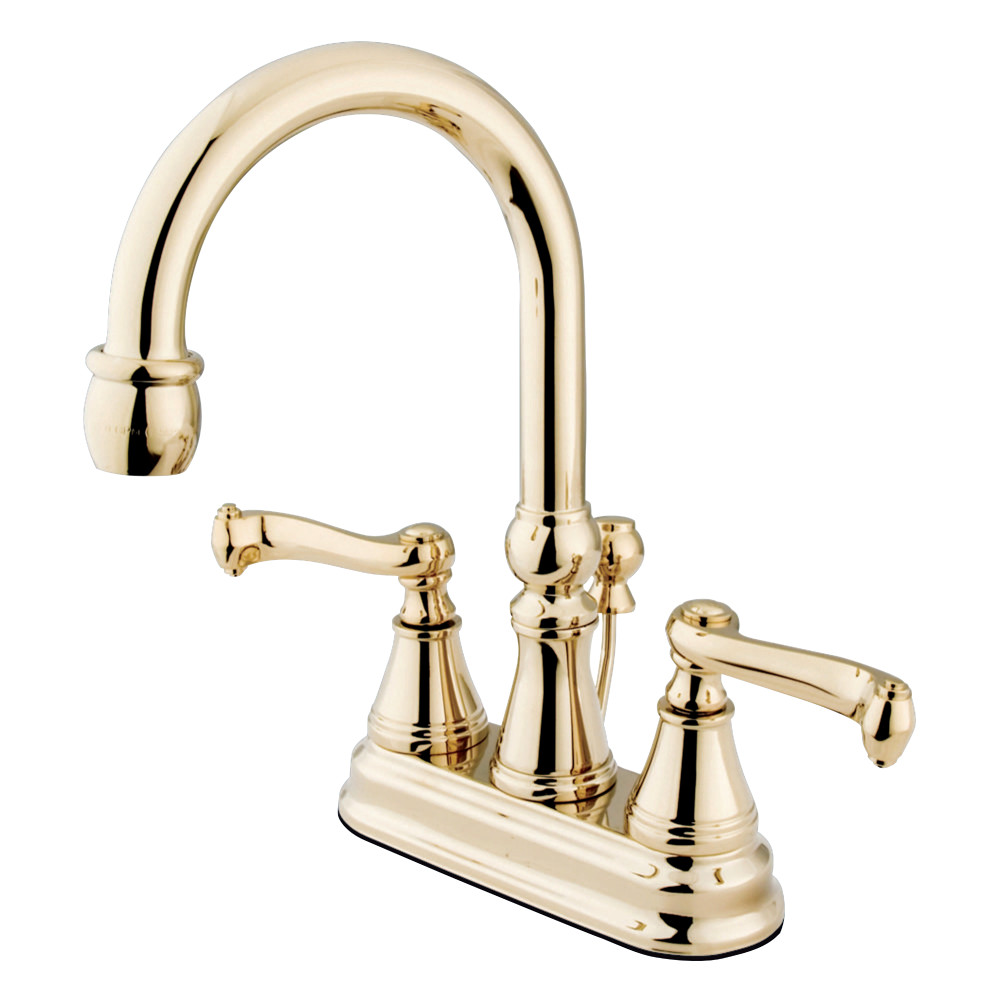 Kingston brass ks8125dfl ks8125dfl 8 inch center bathroom for Bathroom 8 inch faucets