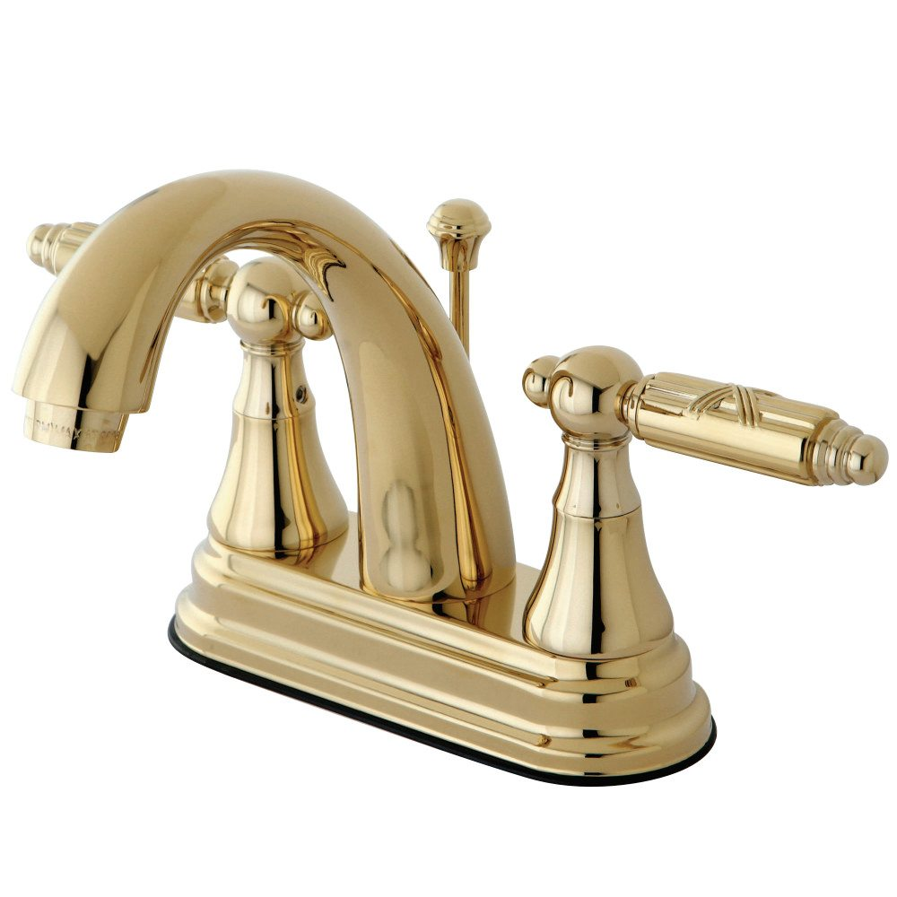 Kingston Brass Ks7612gl Georgian 4 Centerset Lavatory Faucet Polished Brass Kingston Brass
