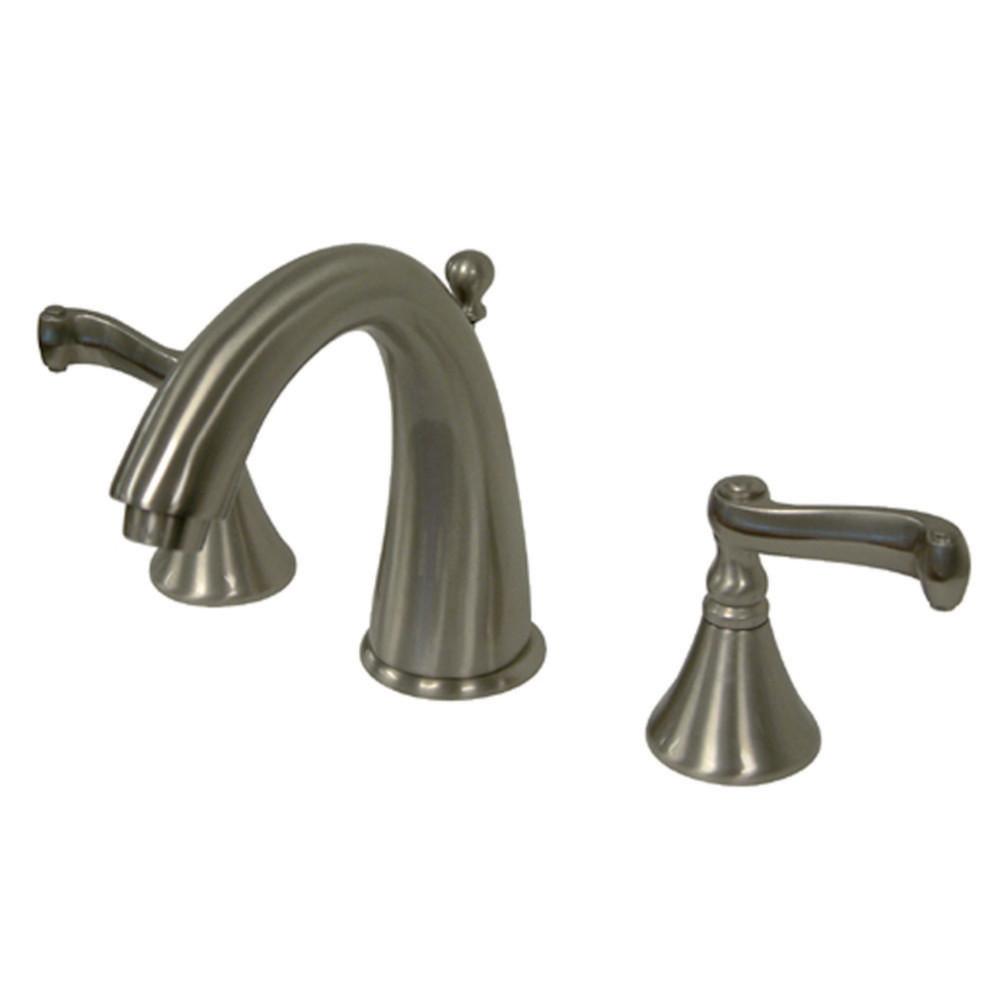 Kingston Brass Ks5978fl Royale Widespread Lavatory Faucet Brushed Nickel Kingston Brass
