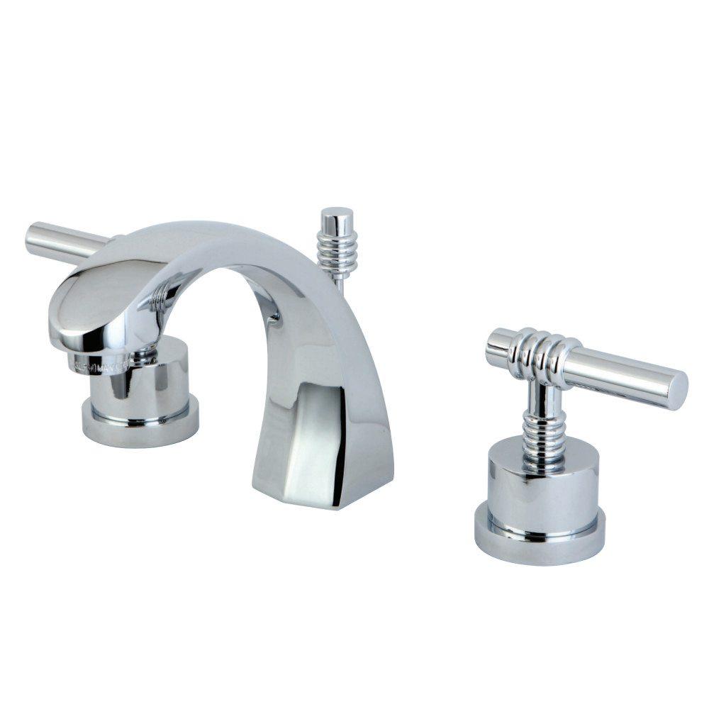 Kingston brass ks4981ml milano 8 widespread lavatory for 8 widespread bathroom faucet chrome