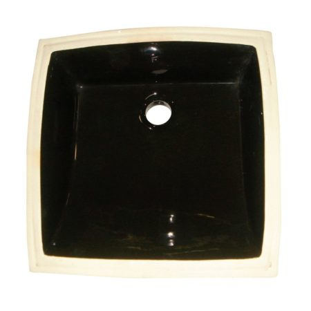 Kingston Brass LB18187K Fauceture LB18187K Cove Undermount Bathroom Sink, Black