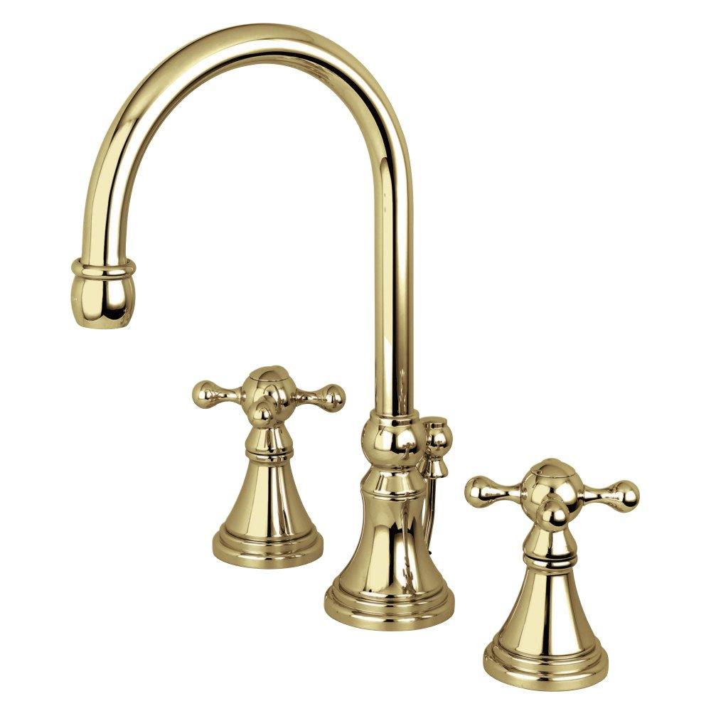 Kingston Brass Ks2982kx Governor Widespread Lavatory Faucet With Brass Pop Up Polished Brass