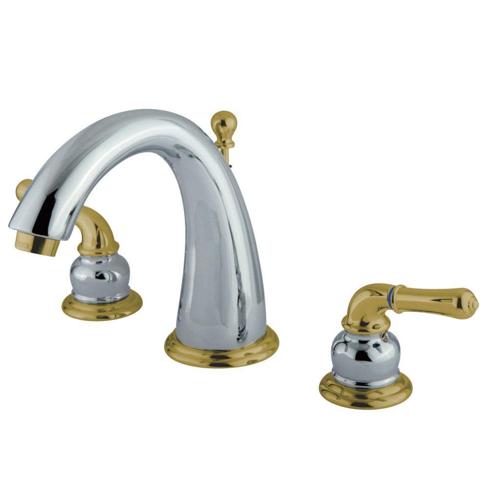 Kingston Brass Ks2964 Widespread Lavatory Faucet Polished Chrome Kingston Brass