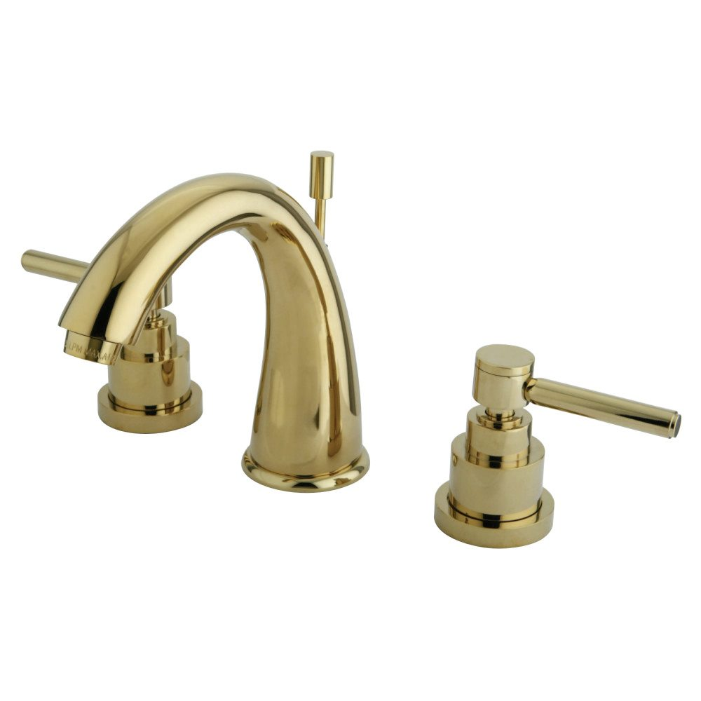 Polished brass bathroom faucets widespread