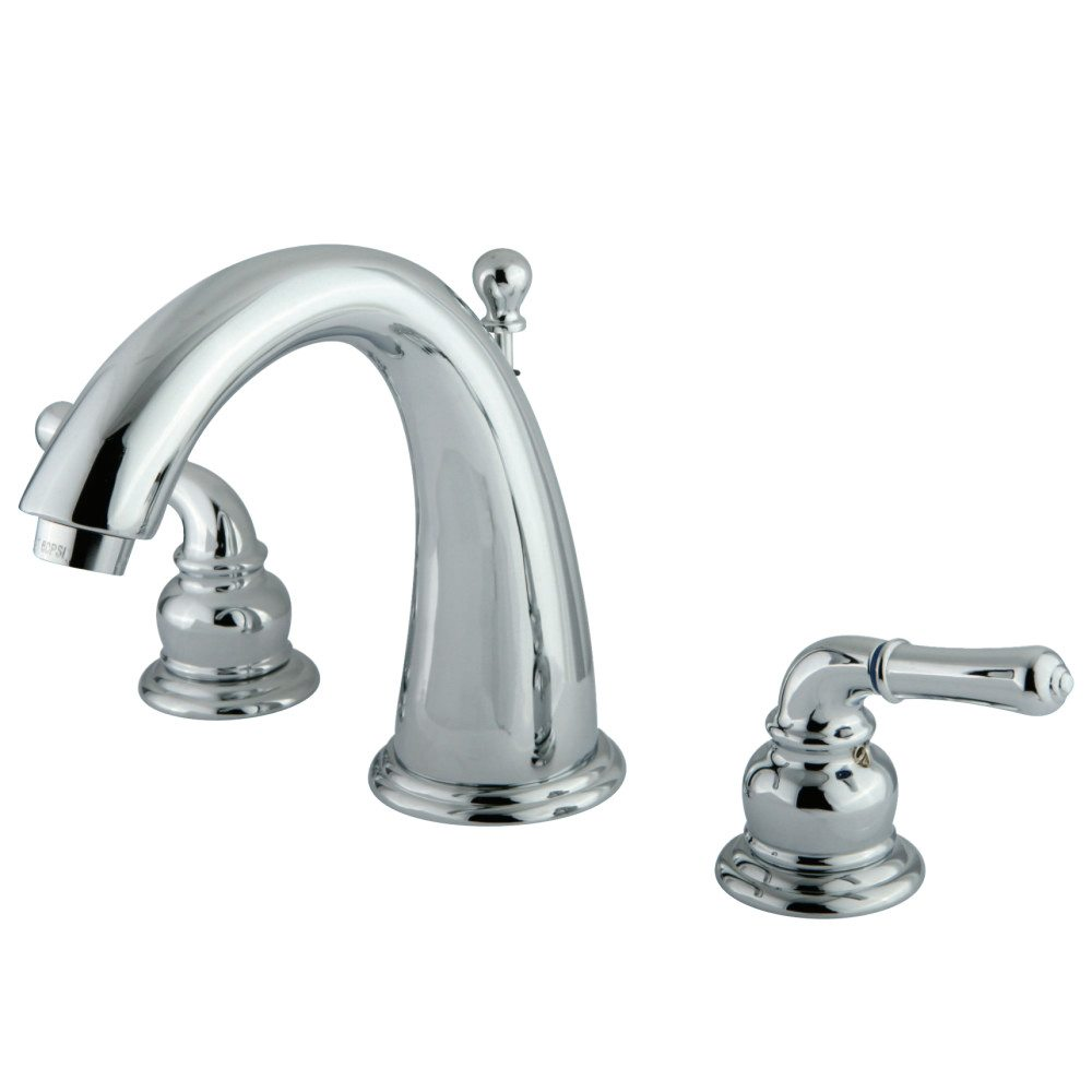 Kingston brass ks2961 widespread lavatory faucet polished - Brass bathroom faucets widespread ...