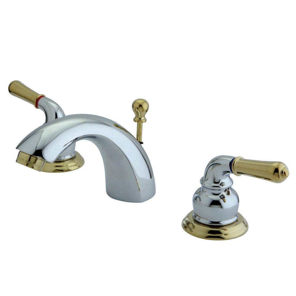 Kingston Brass Ks2954 Mini Widespread Lavatory Faucet Chrome Polished Brass Kingston Brass