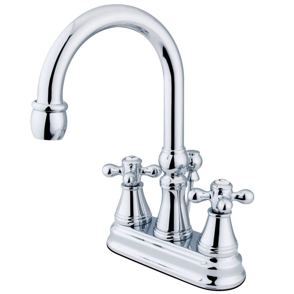 Kingston Brass Ks2611ax 4 Inch Centerset Lavatory Faucet With Brass Pop Up Chrome Kingston Brass