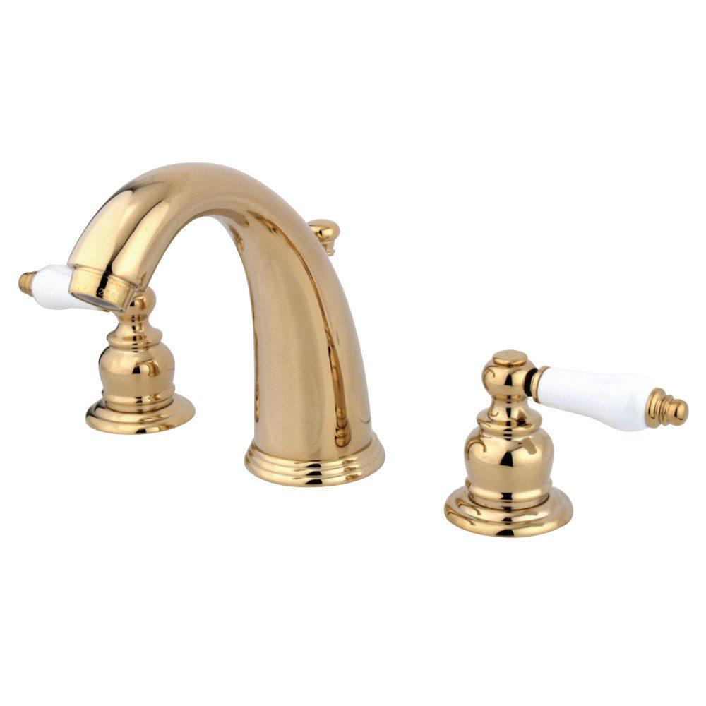 Kingston Brass Kb982pl Widespread Lavatory Faucet Polished Brass Kingston Brass