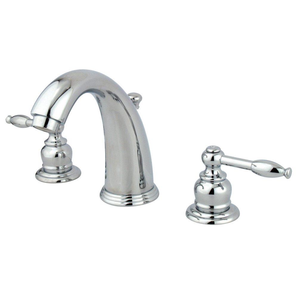 Kingston Brass Kb981kl Widespread Lavatory Faucet Polished Chrome Kingston Brass