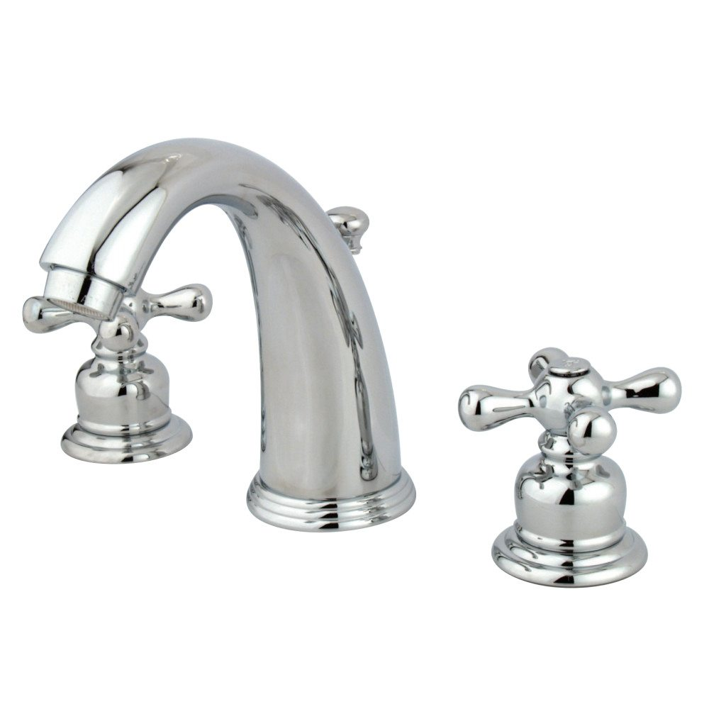 Kingston brass kb981ax widespread lavatory faucet chrome - Brass bathroom faucets widespread ...