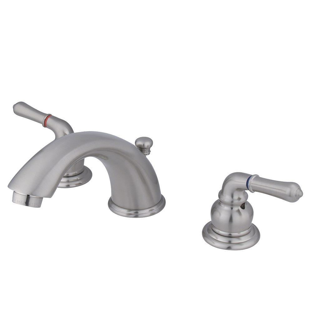 Kingston Brass KB968 Magellan Widespread Lavatory Faucet, Brushed ...