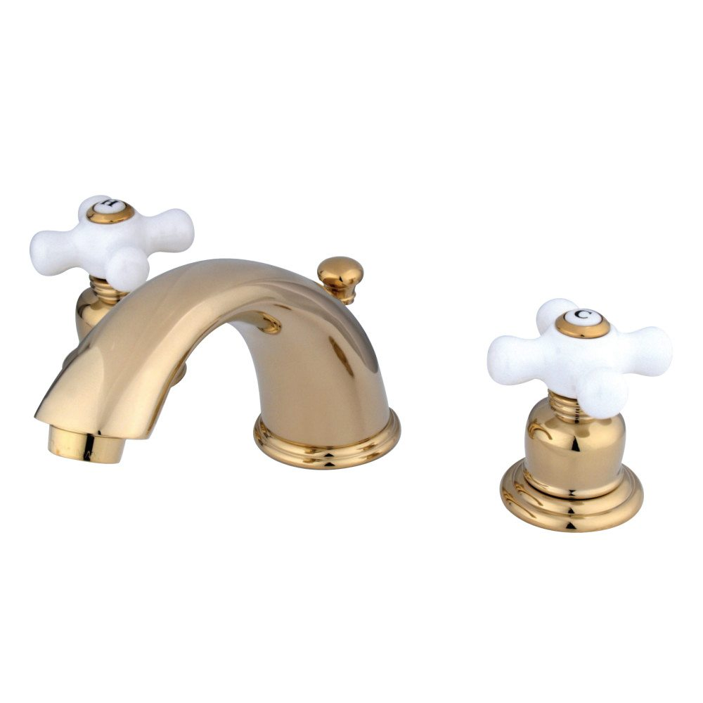 Kingston Brass KB962PX Magellan Widespread Lavatory Faucet, Polished ...