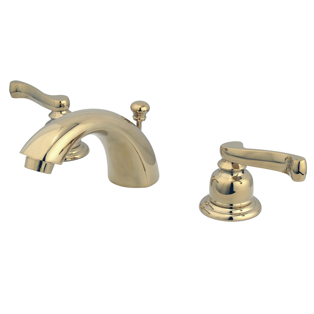 Kingston Brass Kb952fl Mini Widespread Lavatory Faucet And Retail Pop Up Polished Brass