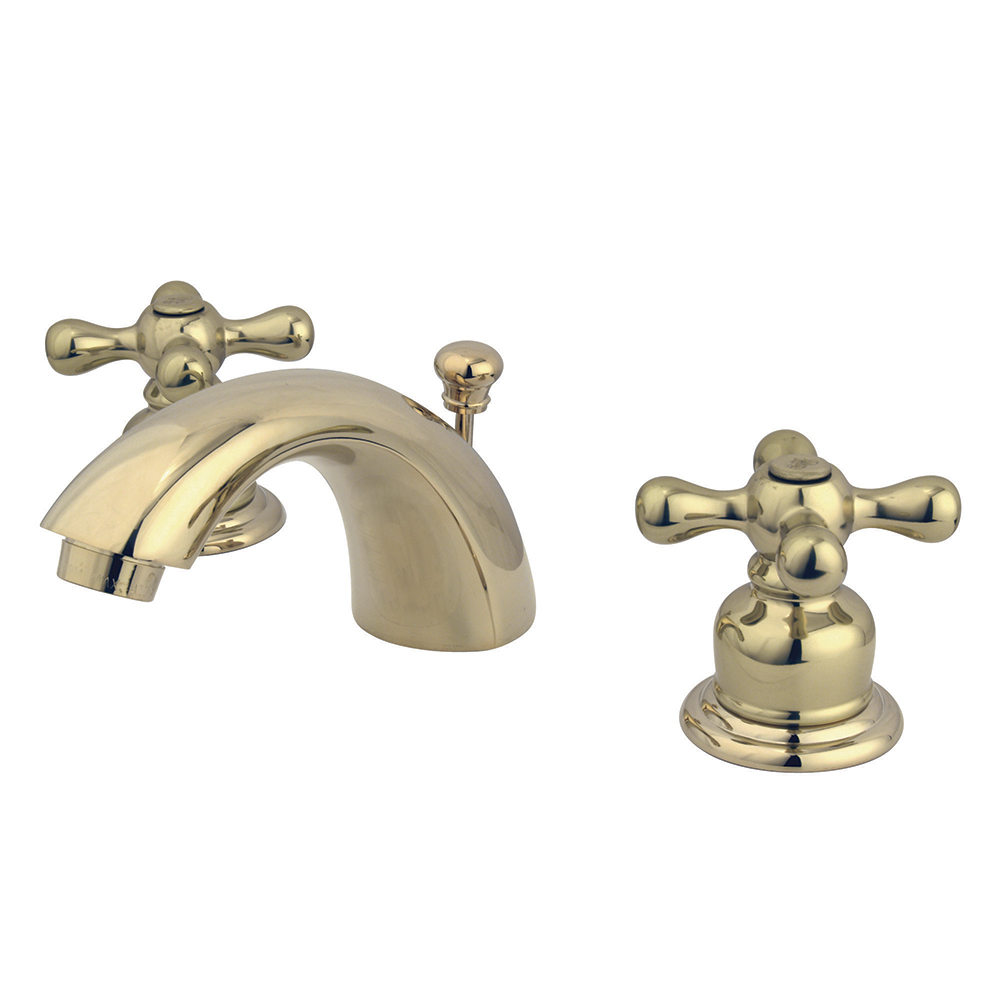 Kingston Brass Kb952ax Mini Widespread Lavatory Faucet And Retail Popup Polished Brass