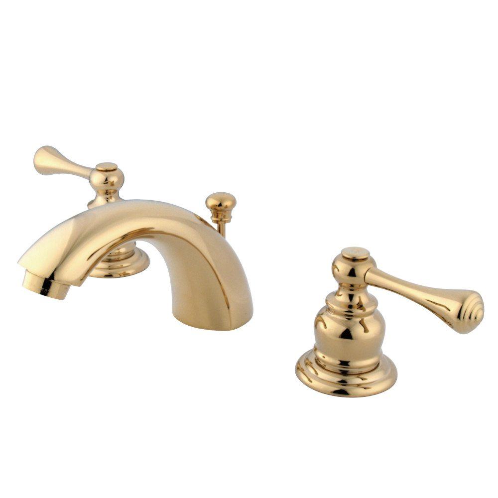 Kingston Brass KB942BL Mini Widespread Lavatory Faucet, Polished ...