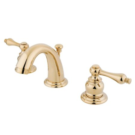 "Kingston Brass KB912AL Two Handle 4"" to 8"" Mini Widespread bathroom Faucet with Retail Pop"