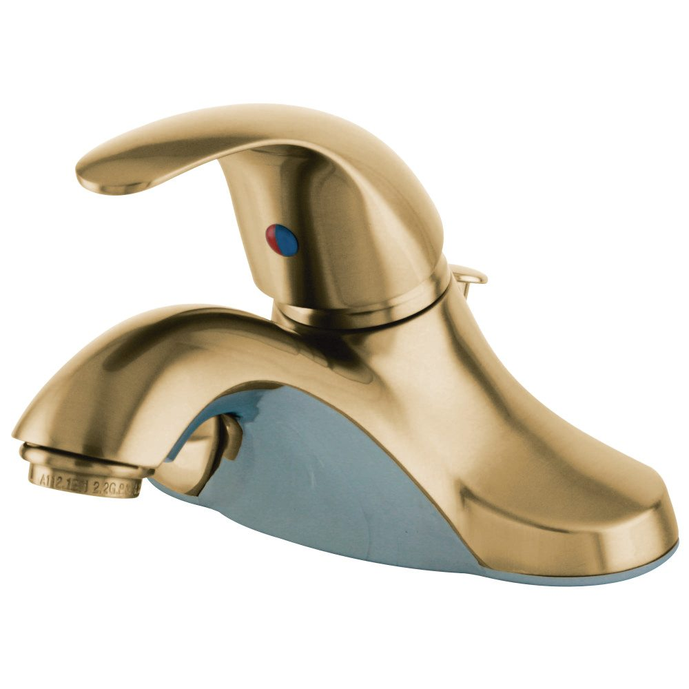 Kingston Brass KB6542LL Single-Handle 4-Inch Centerset Lavatory ...