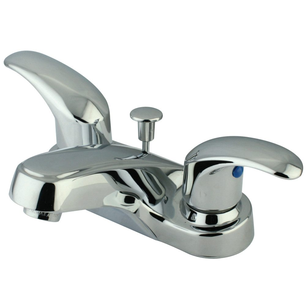 Kingston Brass Kb6251 4 Inch Centerset Lavatory Faucet With Plastic Pop Up Chrome Kingston Brass