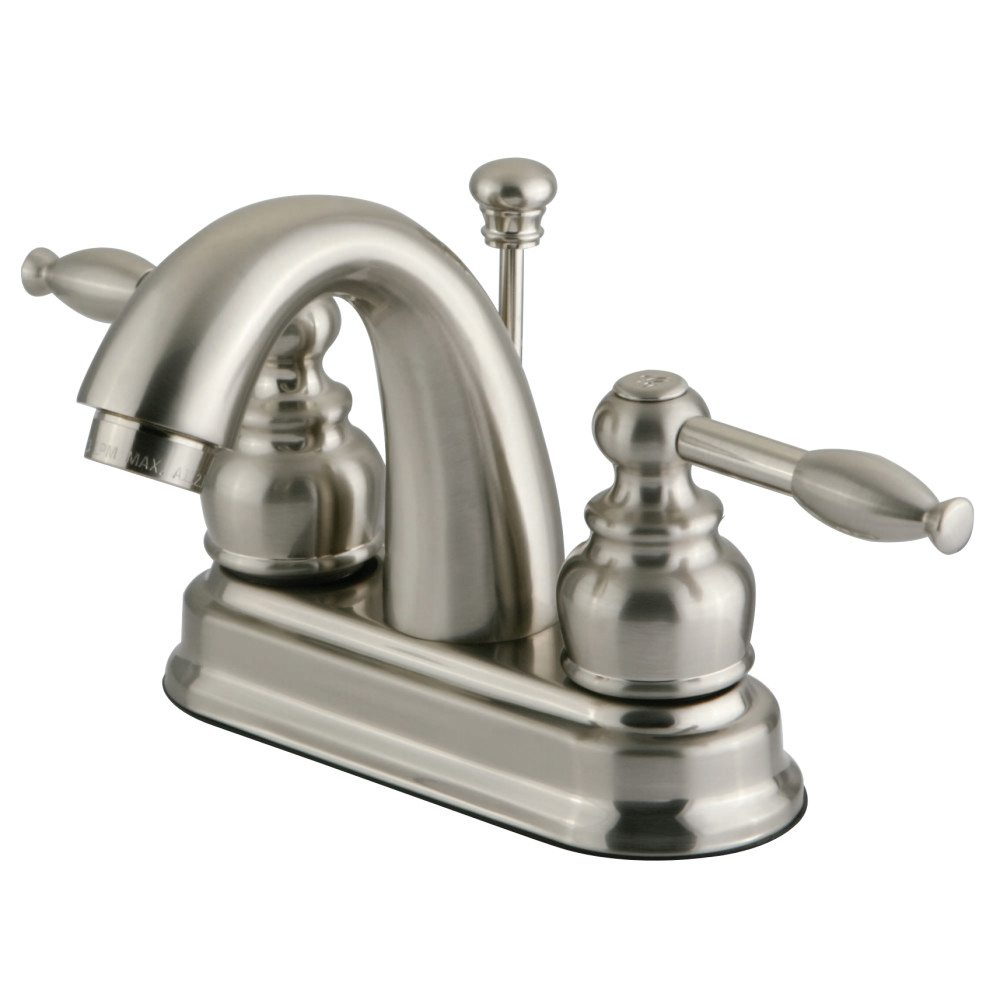 Kingston Brass Kb5618kl 4 Inch Centerset Lavatory Faucet Brushed Nickel Kingston Brass