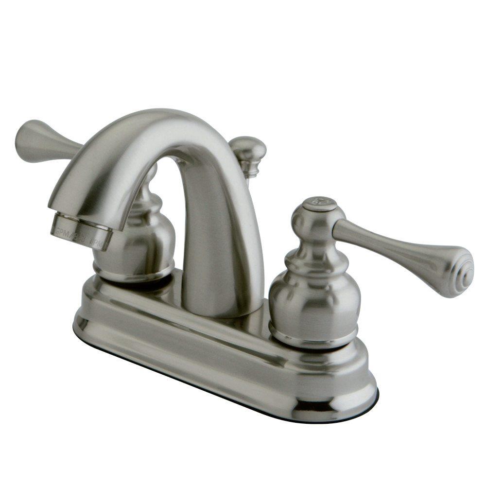 Kingston Brass Kb5618bl Vintage 4 Centerset Lavatory Faucet Brushed Nickel Kingston Brass