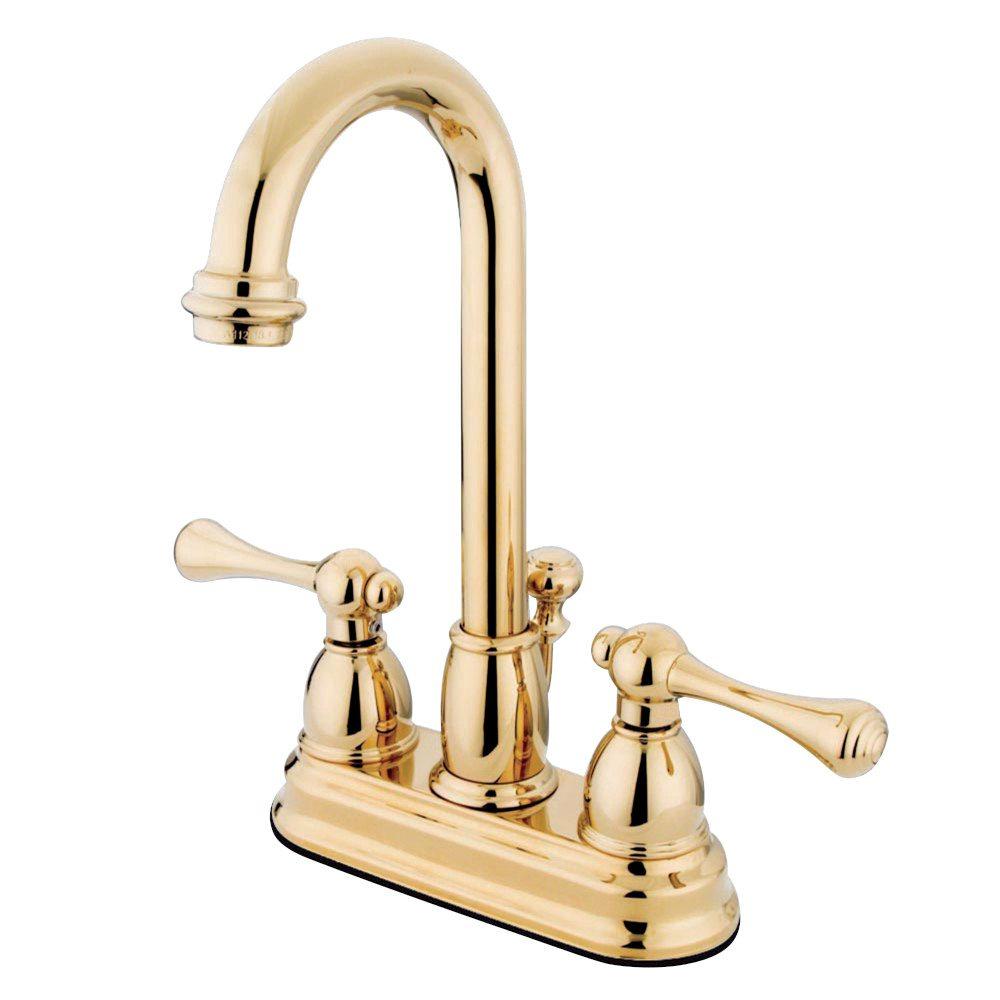 Kingston Brass KB3612BL Vintage Classic Deck Mount Lavatory Faucet ...
