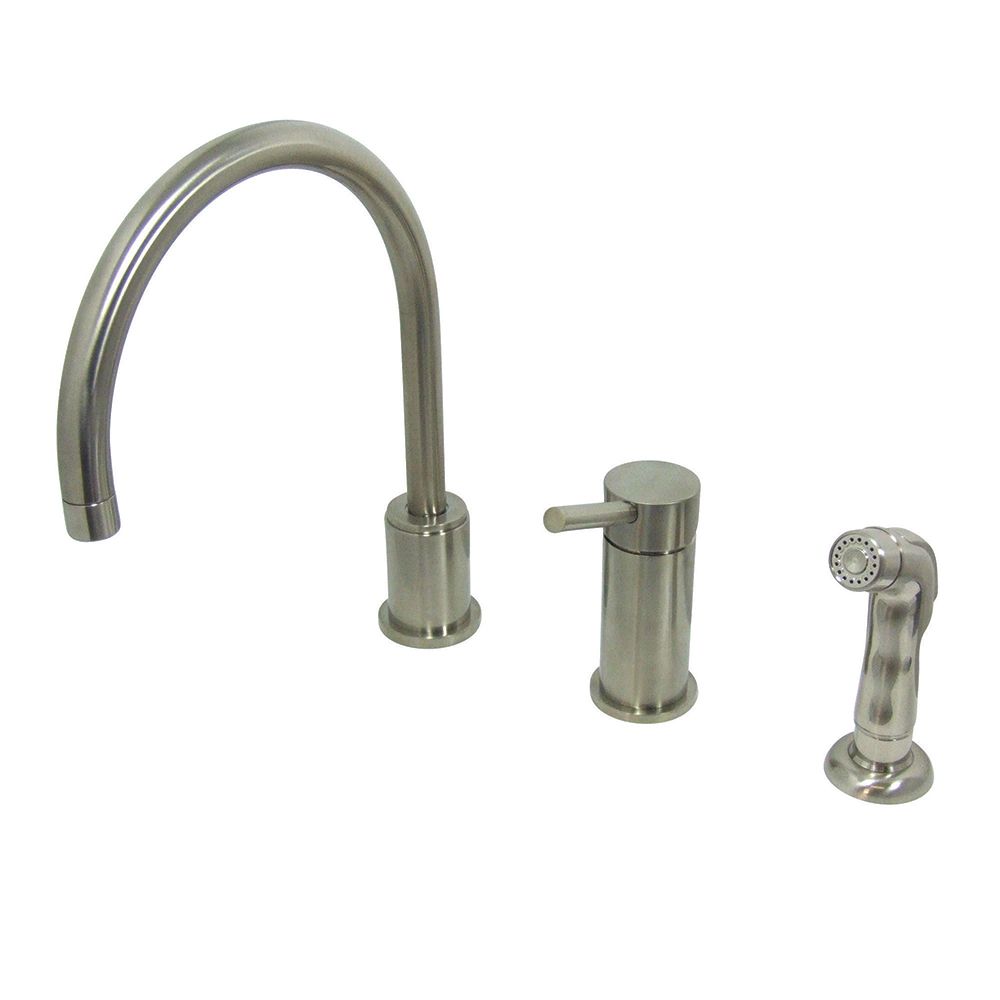 kingston brass ks8018dlsp widespread kitchen faucet with sprayer