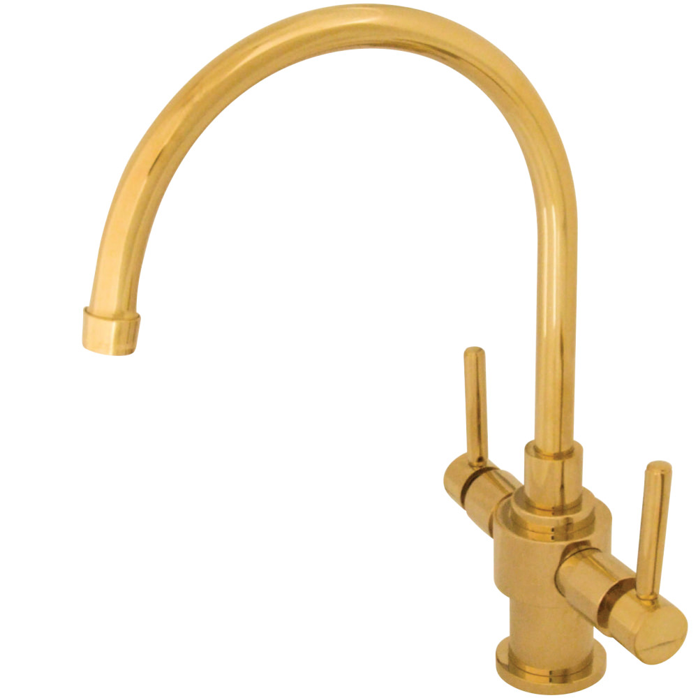 kingston mount brass faucet pd deck heritage shop kitchen high handle chrome arc