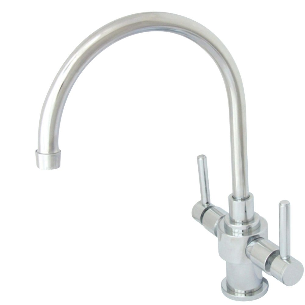 Kingston Brass KS7701DLLS Kingston Brass KS7701DLLS Two Lever Handles  Kitchen Faucet Without Sprayer, Chrome