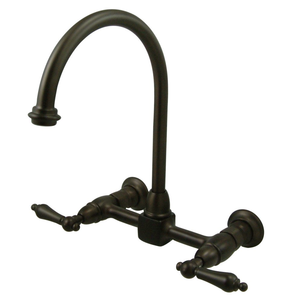 Kingston Brass Ks1295al 8 Wall Mount Goose Neck Kitchen
