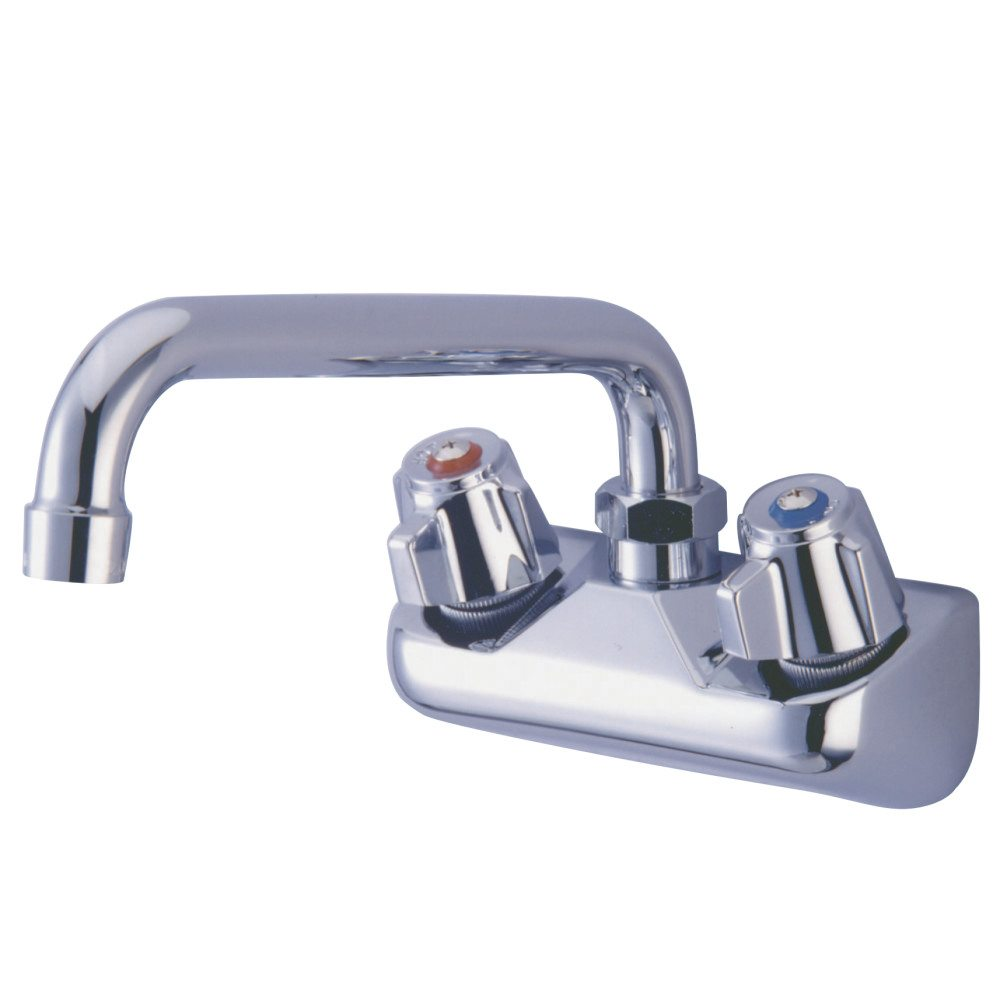 Kingston Brass KF421 4-Inch Wall Mount Kitchen Faucet With