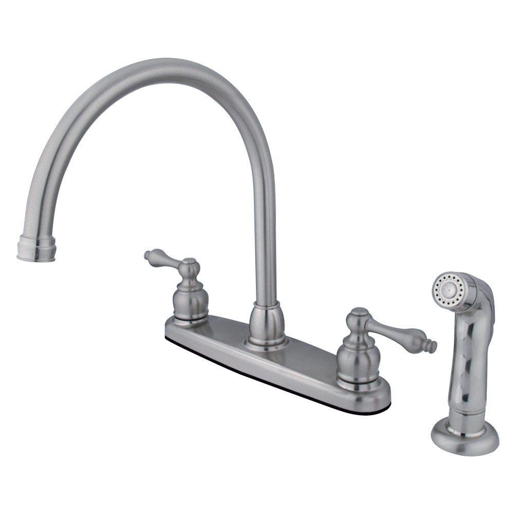 Kingston Brass KB728ALSP Vintage Gooseneck Kitchen Faucet With ...