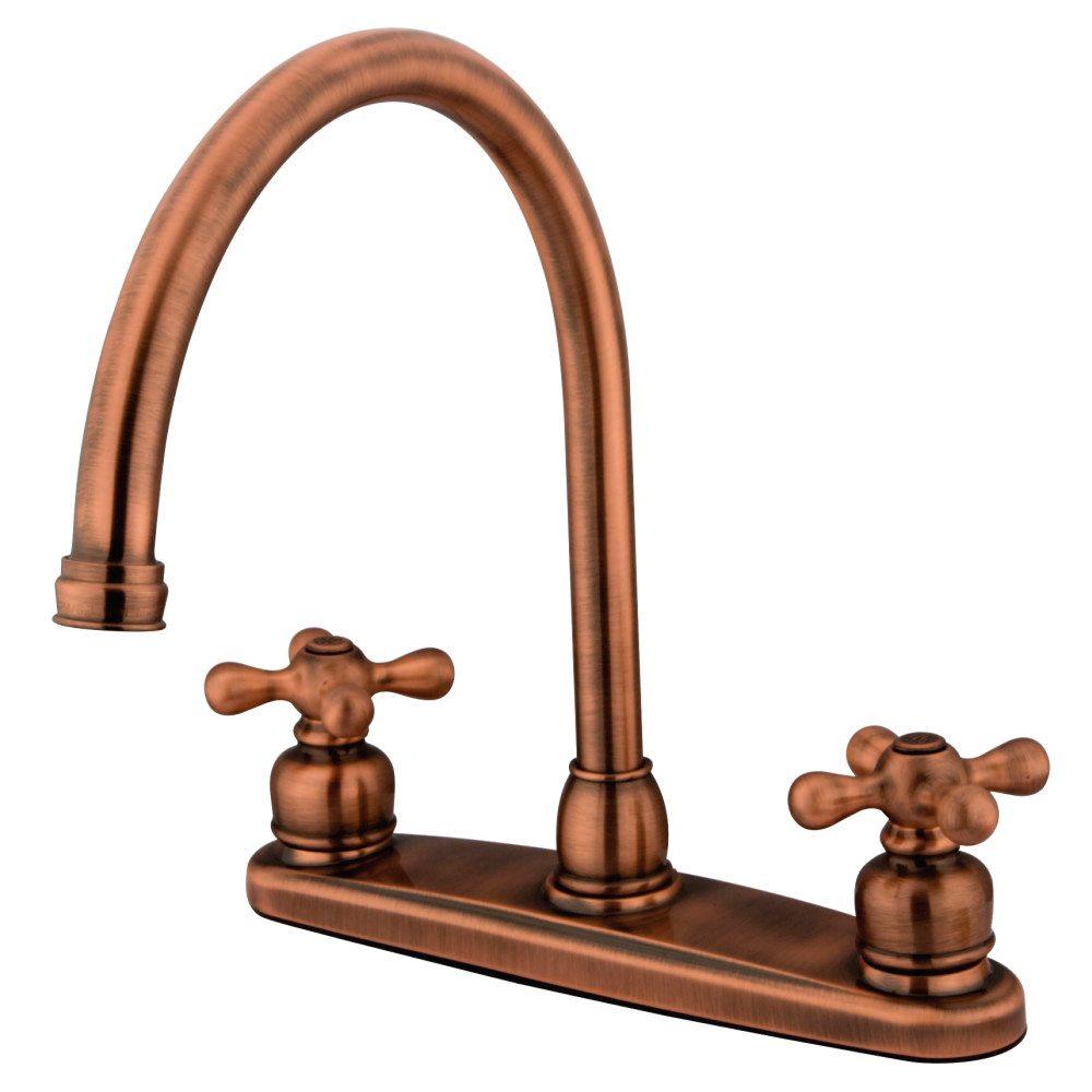 Kingston Brass KB726AXLS Gooseneck Kitchen Faucet without Sprayer ...