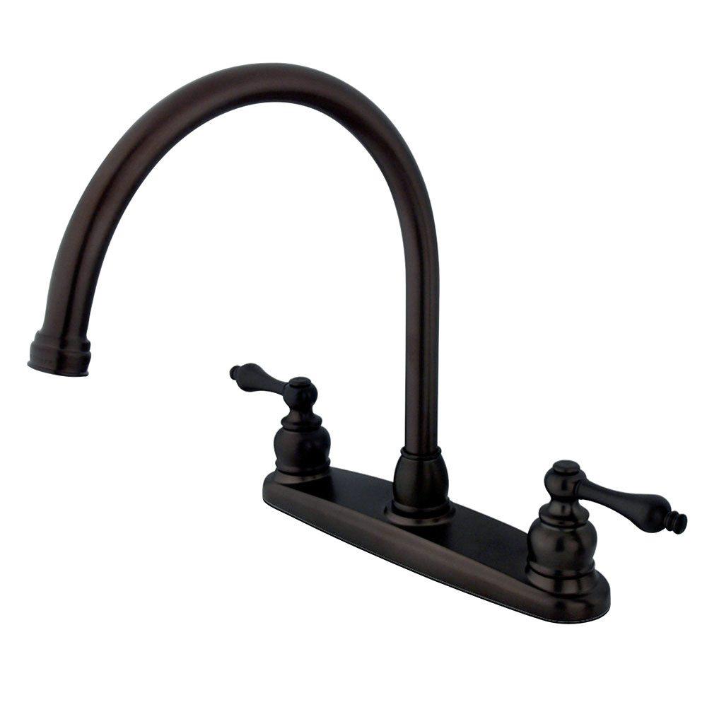 Kingston brass kb725alls victorian 8 gooseneck kitchen - Kingston brass victorian bathroom faucet ...