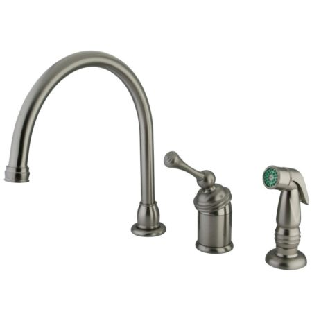 Kingston Brass KB3818BLSP 8 inch widespread kitchen faucet