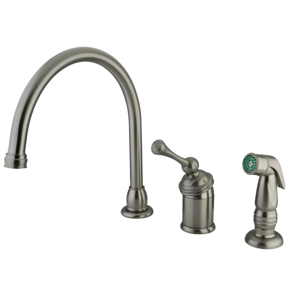 Kingston Brass Kb3818blsp Buckingham Kitchen Faucet With Kbs3578sp Sprayer Satin Nickel