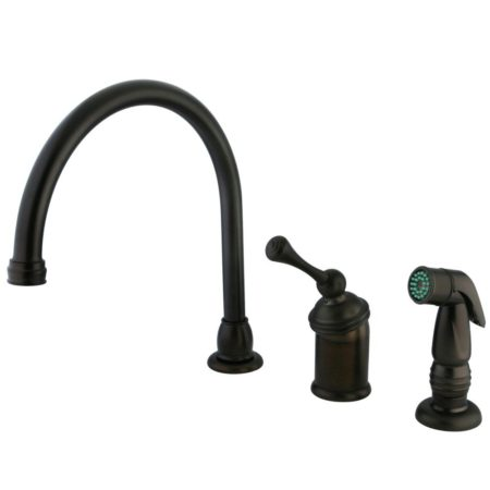 Kingston Brass KB3815BLSP 8 inch widespread kitchen faucet