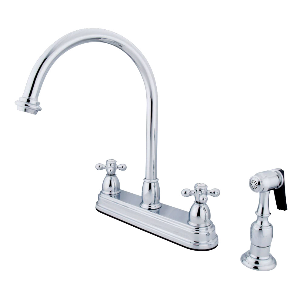 Inch Center Kitchen Faucet With Sprayer