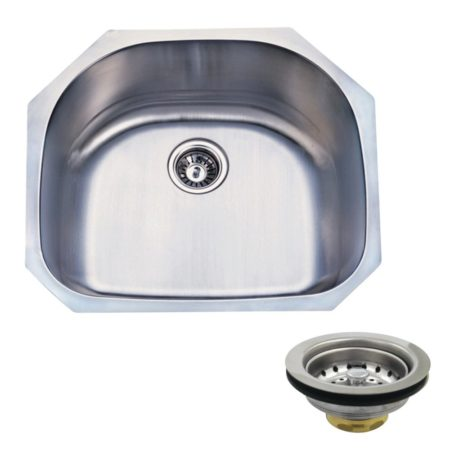 Kingston Brass KGKUS2321 UNDERMOUNT SS SINGLE BOWL KIT SINK COMBO WITH STRAINERS