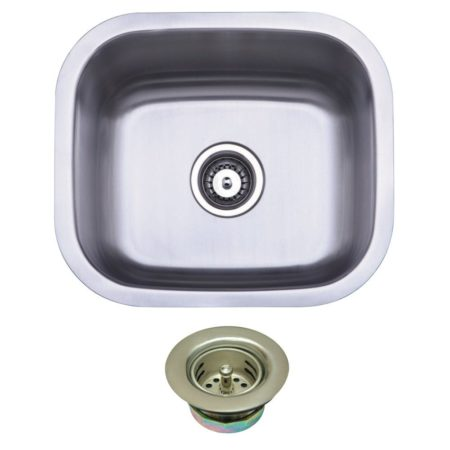 Kingston Brass KGKUS16168 UNDERMOUNT SS SINGLE BOWL BAR SINK WITH STRAINER
