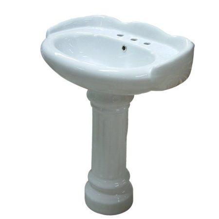 Kingston Brass VPB1258 Fauceture VPB1258 Georgian Pedestal Wash Basin, White
