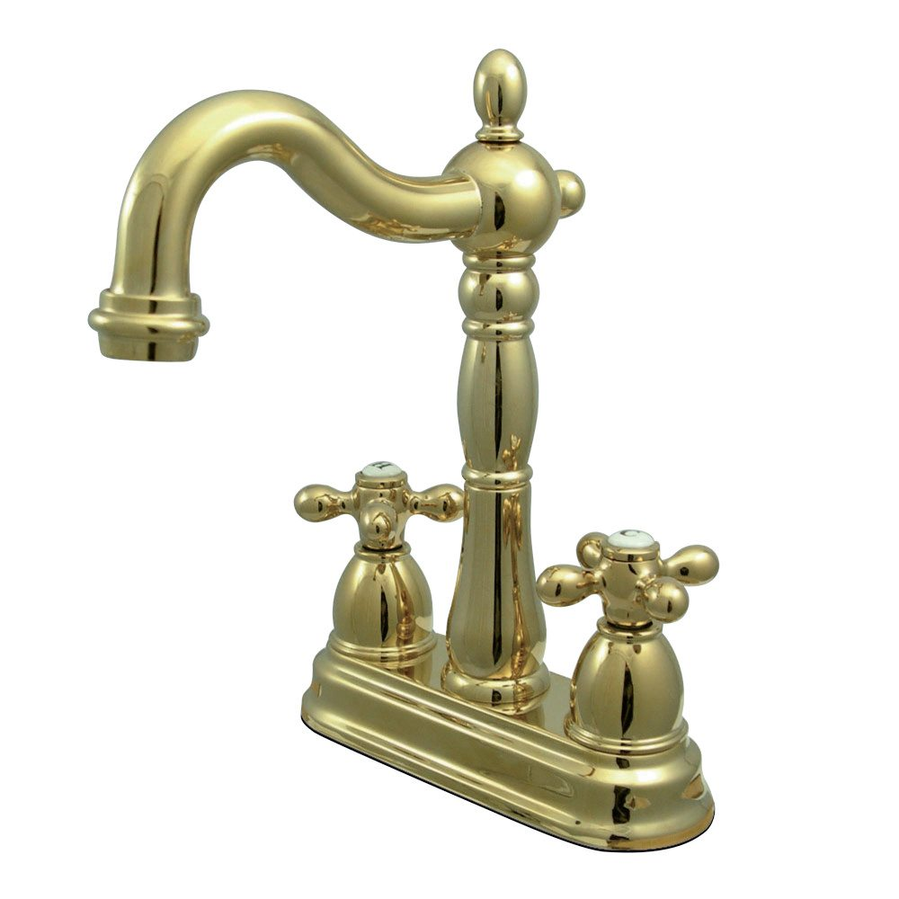 Kingston Brass KB1492AX Heritage Bar Faucet, Polished Brass ...