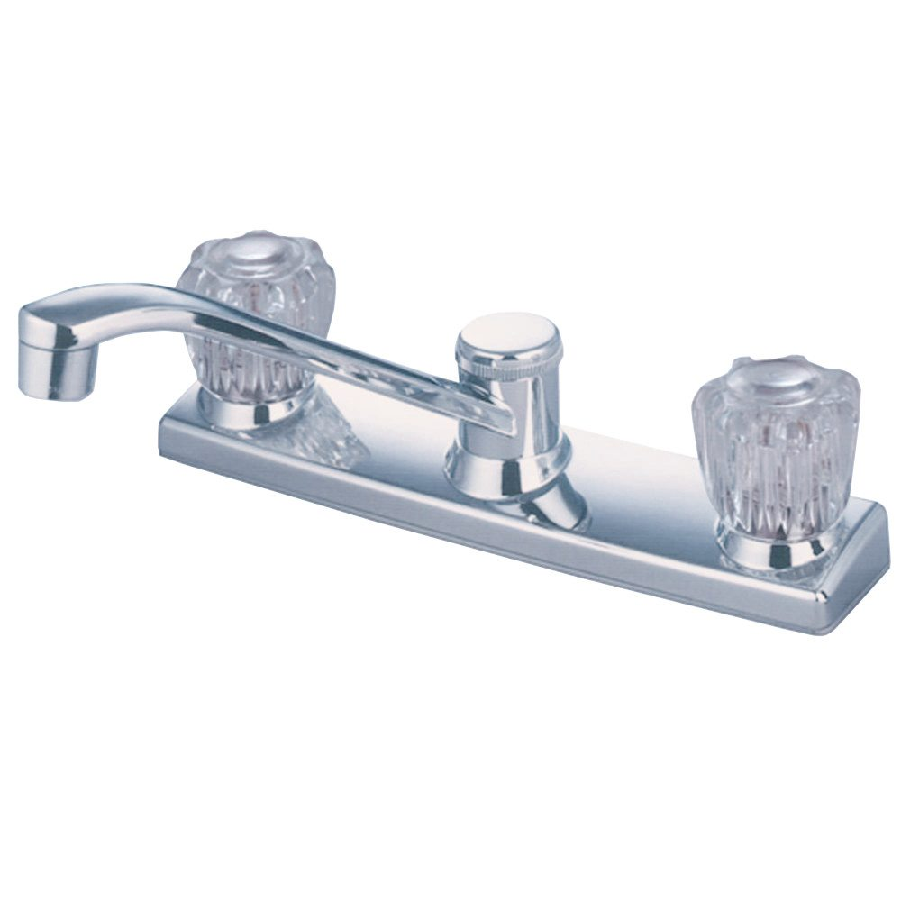 Kingston Brass Kb121 Twin Acrylic Handle 8 Kitchen Faucet