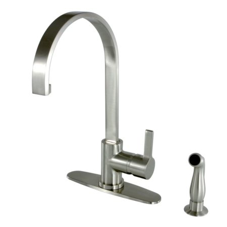 Kingston Brass GS8718CTLSP single handle mono block kitchen faucet with plastic side sprayer ( or LS8718CTLSP )