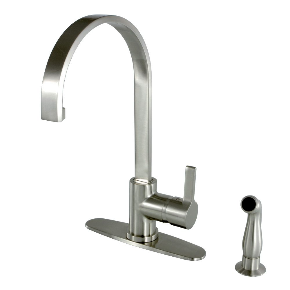 Kingston Brass GS8718CTLSP Continental Kitchen Faucet With Sprayer ...