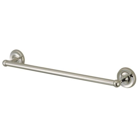 "Kingston Brass BA311SN Classic 24"" Towel Bar, Satin Nickel"