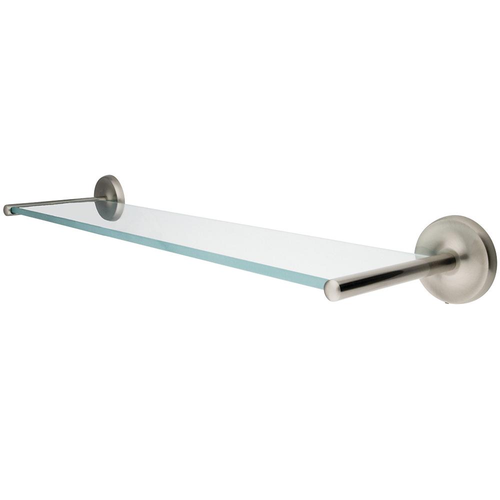 Kingston Brass BA319SN Classic Glass Shelf, Brushed Nickel ...