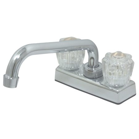 Kingston Brass CK0301 Two Acrylic Handles With Tubular Spout 4 ...
