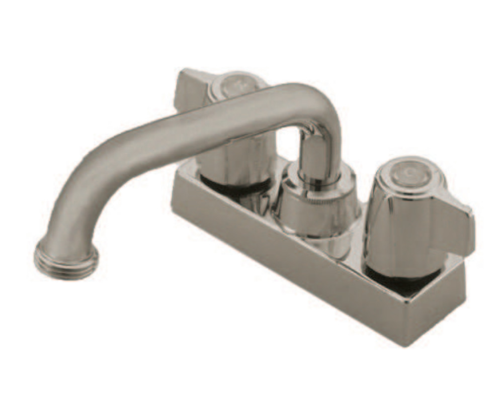 Kingston Brass KB470SN Laundry Tray Faucet with Canopy Handles
