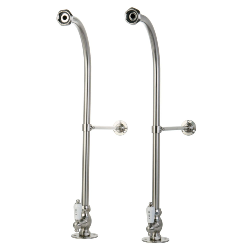 Kingston Brass CC458HCL Rigid Freestand Supplies with Stops and Hot & Cold Porcelain Levers